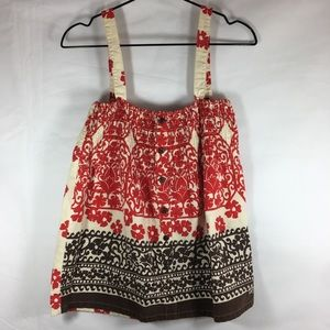 Roxy Tank in Vintage Print with Adjustable Straps